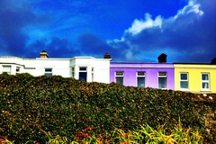 Colorful Houses in Salthill Galway