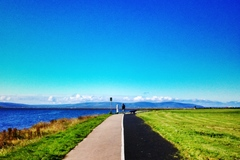 Brilliant morning on the Salthill prom.