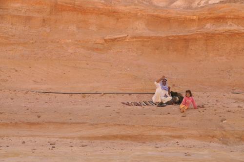 Beduoins Sinai Desert wave sand