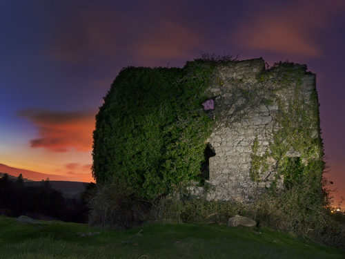 Tales of silent keeps and secrets whispered in the ivy. Puck's Castle, Shankill, South County Dublin. Reputed to be haunted, hence its name.