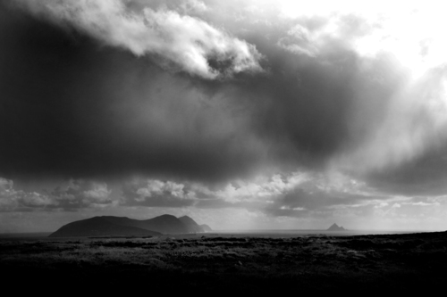 The Great Blasket and Terraght, viewd from An Ghráig, Corca Dhuibhne, Kerry.