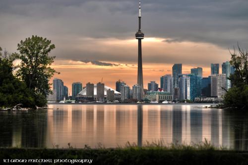 Downtown Toronto under the evening sun