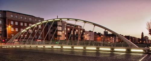 One of the more modern bridges in Dublin