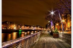 Dublin's boardwalk early in the morning