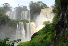 The awesome Iguazu falls in full flow.