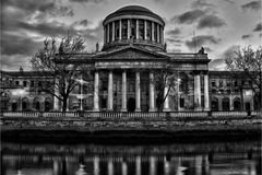 the four courts in black and white