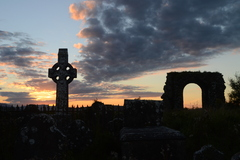 A sunset at the old ruins of Rathkieran Church in Mooncoin Co. Kilkenny, Ireland.