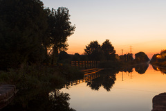 A sunset shot over the 12th Lock of the Grand Canal in Lucan, Co. Dublin