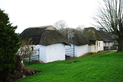 An old village of thatched homes is slowly disappearing in Glengrant, Mooncoin, County Kilkenny, Ireland.