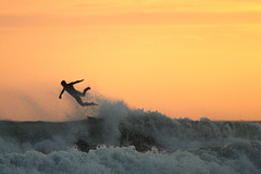 surfer getting the new year off to a flying start at garettown beach cork ireland
