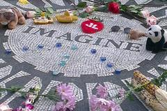 The John Lennon Memorial, Strawberry Fields, Central Park, New York.