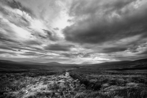Storm clouds building over the Sally Gap in Wicklow