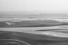 View across Sandymount Strand looking back towards Ringsend