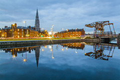 Royal Canal at Spencer Dock, Docklands, Dublin, Ireland.