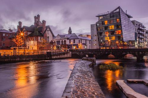 Evening on Garavogue River, Sligo town.