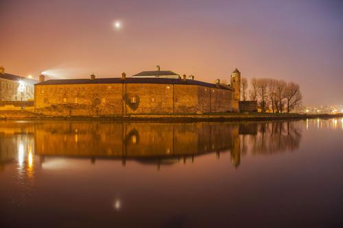 Night time at Enniskillen Castle, River Erne, Fermanagh.