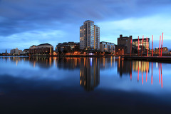 View from Ringsend to the former Grand Grand Theatre, Grand Canal Dock, Dublin.