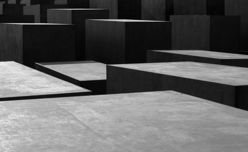 Some of the 2711 concrete slabs that make up the Holocaust Memorial in Berlin designed by Peter Eisenman.