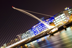 Long exposure of Samuel Beckett Bridge, Dublin