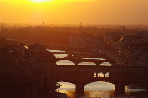 Sunset over Florence (Firenze)