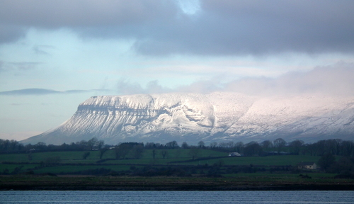 Benbulben mountain taken from the docks in Sligo