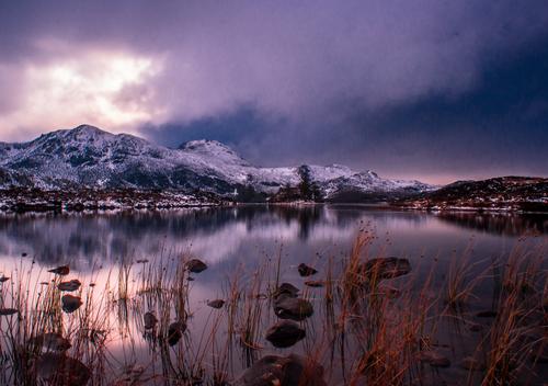 Lough Naminn on a snowy day