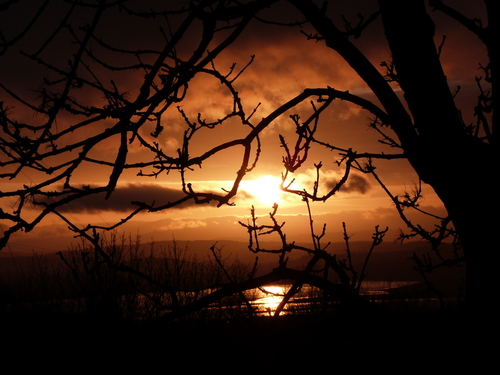 Sunset silhouette at Inishowen, Co. Donegal
