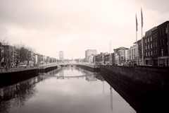 View of the quays along the Liffey in Dublin.