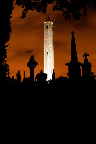 Glasnevin Tower by night