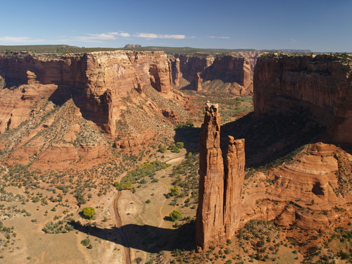 Spider Rock at the Canyon de Chelly National Monument in eastern Arizona.