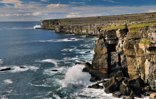 Cliffs near the Black Fort, Inishmore.. Aran Islands