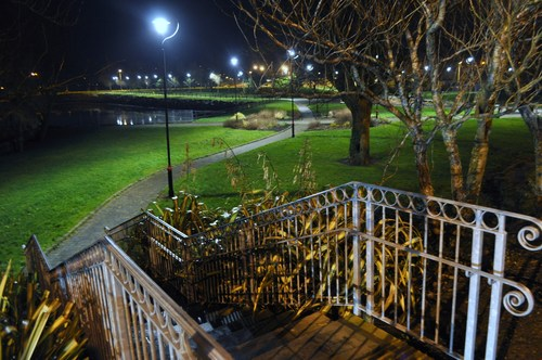 Walton Park at Night, Dungarvan, Co. Waterford, Ireland.