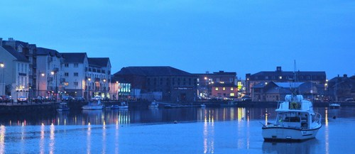 Dungarvan Bay as night descends.