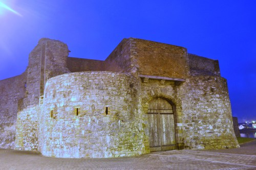 Entrance to Dungarvan Castle, Dungarvan, Co. Waterford, Ireland.