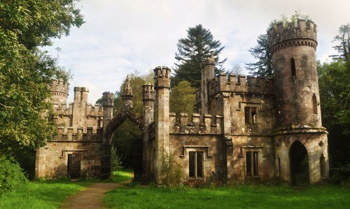 Ballysaggartmore Towers located just outside the town of Lismore, Co. Waterford.