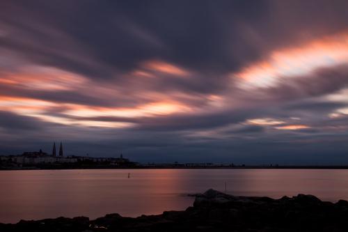 Late evening across Sandycove Bay, Dublin