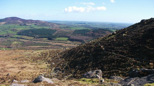 A view downwards from the Comeragh Mountains.