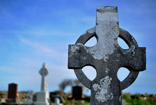 Celtic Cross on Inishmore, Aran Islands