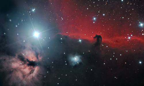 Location: Killygordon, Co. Donegal, Ireland. Time: 00:00-05:00 Date: 01 December 2010 Target:  Horsehead and Flame Nebulae