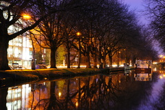 20sec exposure of a peaceful evening along the Grand Canal in Dublin.