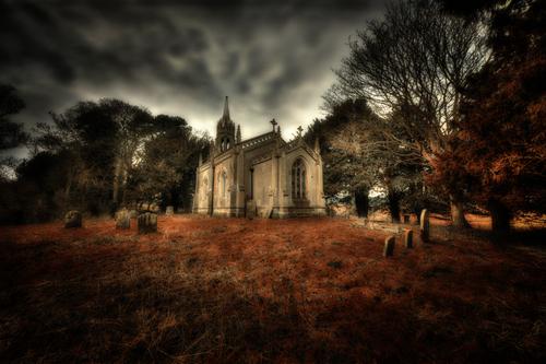 A derelict church.