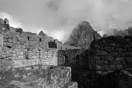 The ancient stonework of Machu Pichu.