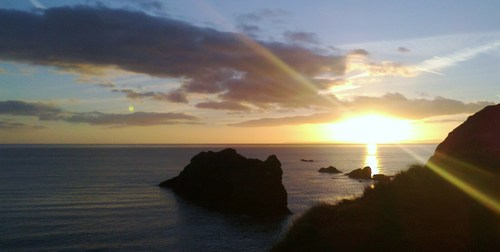 A wondrous sight as the sun sets over Bonmahon, Co. Waterford.