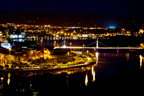 A long exposure of Derry city...