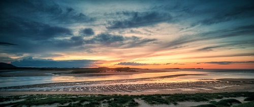 Sunset at Ballyness Bay near Falcarragh a Gaeltacht area in North West Donegal.