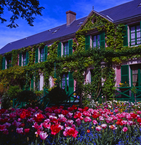 Claude Monet's house in the grounds of his famous gardens in Giverny, Normandy.