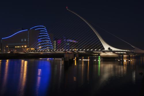 Santiago Calatrava's Samuel Beckett Bridge.
