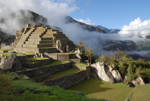 Part of the Machu Pichu complex at dawn.