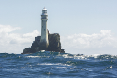 The Fastnet Lighthouse is known as The Teardrop of Ireland, the last sight of Ireland for emigrants sailing to America.
