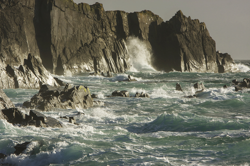 Wild seascape on the north side of Cape Clear Island, West Cork.